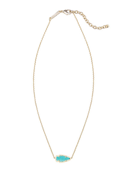 Skylie Turquoise Magnesite Arrow Necklace