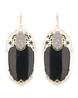 Kendra Scott Deva Twilight Black Glass Earrings