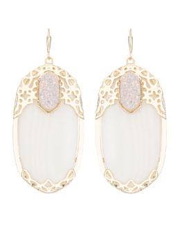 Kendra Scott Deva Glitz White Earrings