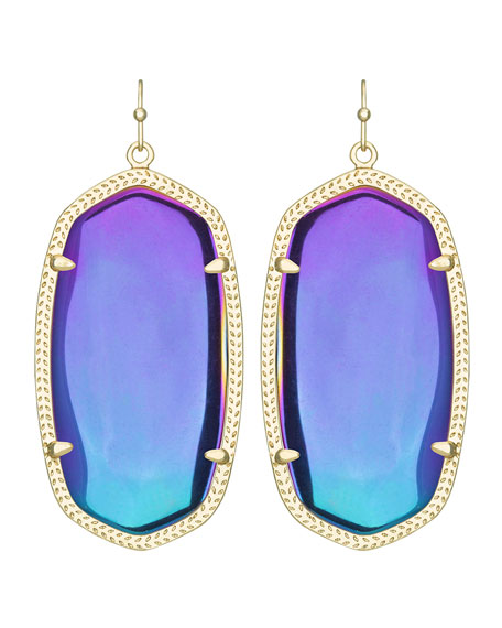 Danielle Black Iridescent Earrings