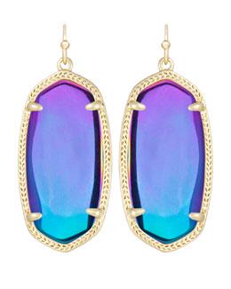Kendra Scott Elle Black Iridescent Earrings