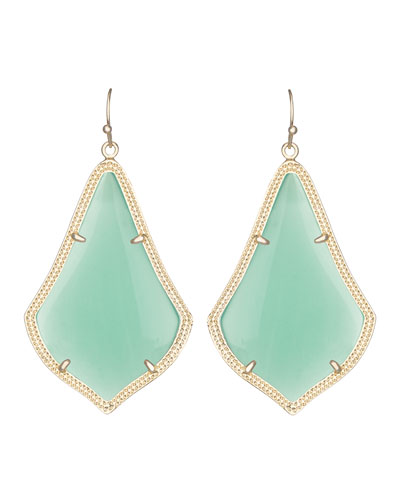 Kendra Scott Alexandra Earrings, Chalcedony