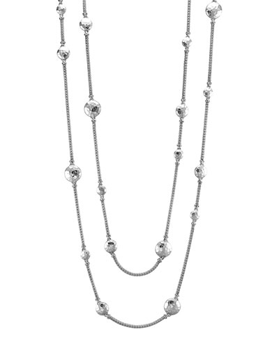 "John Hardy Palu Silver Disc Stations Sautoir Necklace, 72""L"