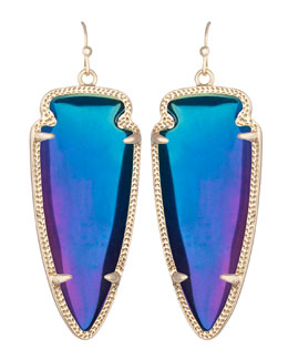 Kendra Scott Skylar Earrings, Black Iridescent