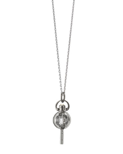 "Monica Rich Kosann Mini Silver Carpe Diem Pendant Necklace, 17""L"
