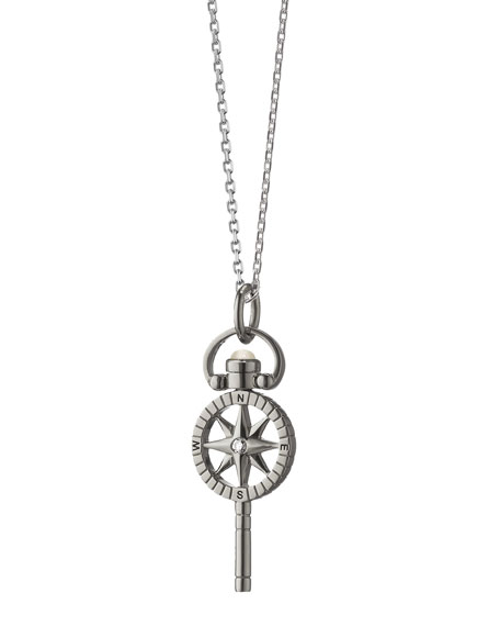Mini Compass Pocketwatch Key Necklace