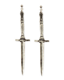 Pamela Love Sterling Silver Dagger Earrings