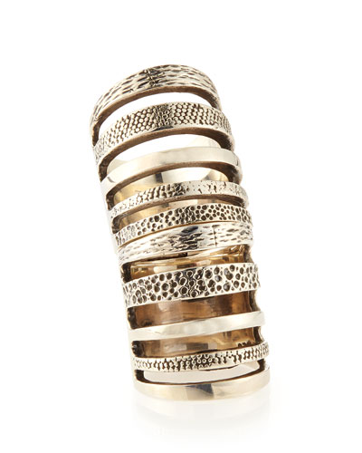 Pamela Love Sterling Silver Hinged Cage Ring