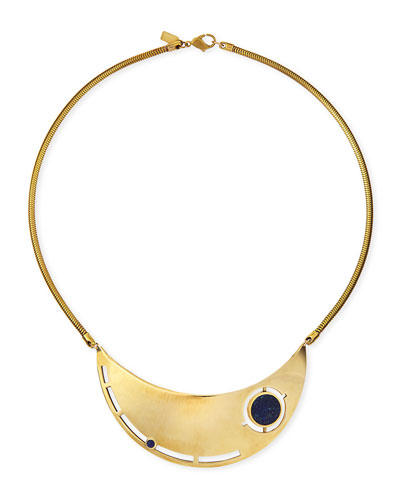 Pamela Love Rotation Lapis Breast Plate Necklace