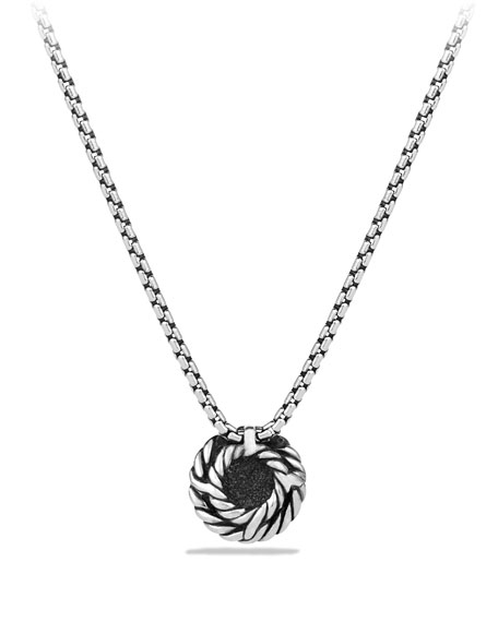 Chatelaine Pendant with Black Diamonds