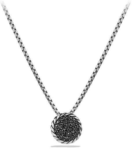 Chatelaine Pendant with Black Diamonds
