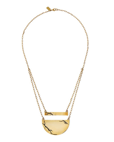 Pamela Love Golden Chasm Pendant Necklace