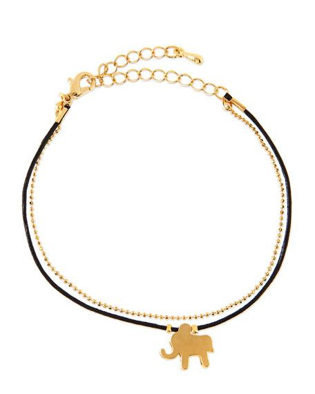 Elephant Chain Rope Bracelet, Golden