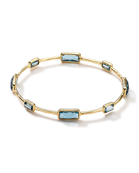 Ippolita 18k Gold Rock Candy Gelato 8-Topaz Bangle