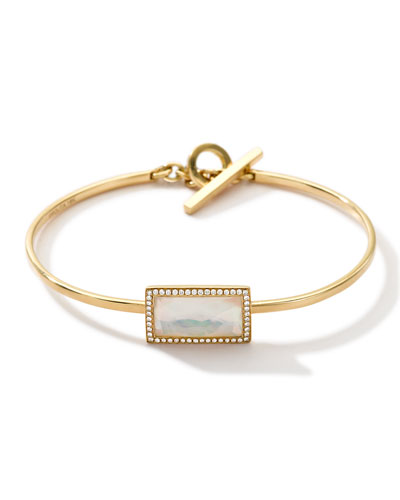 18k Gold Gelato Small Baguette Bracelet with Diamonds