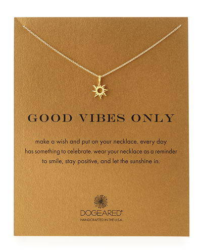 Dogeared Gold-Dipped Good Vibes Necklace