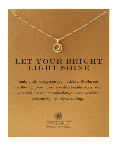 Dogeared Gold-Dipped Let Your Bright Light Shine Necklace