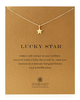 Dogeared Gold-Dipped Lucky Star Necklace