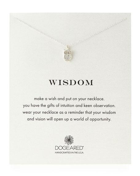 Silver Wisdom Owl Necklace