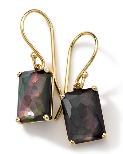 18k Gold Rock Candy Gelato Black Shell Earrings