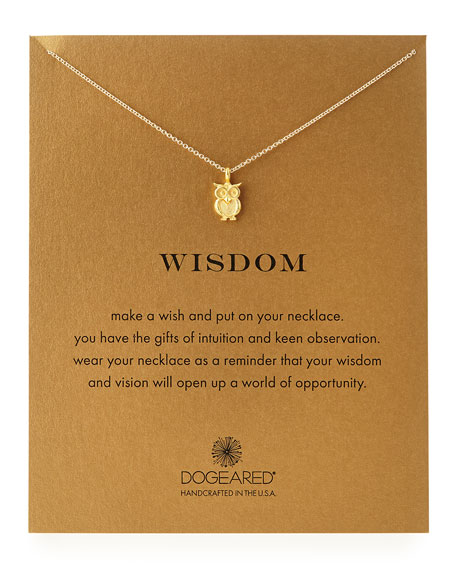 Gold-Dipped Wisdom Owl Necklace