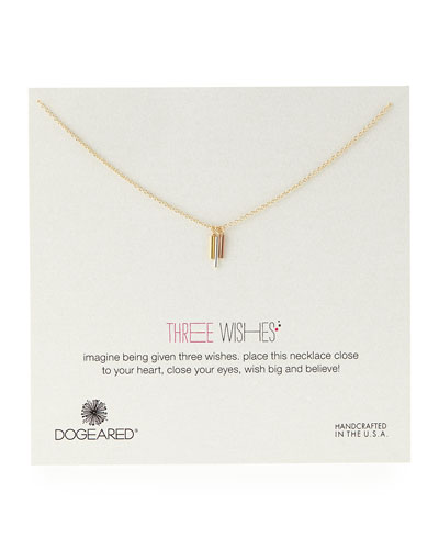 Dogeared Three Wishes Triple-Tube Necklace