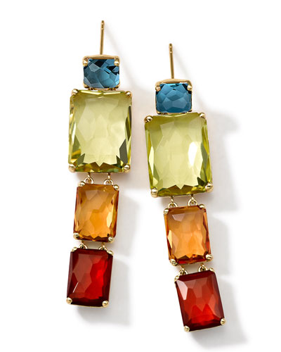 Ippolita 18k Gold Rock Candy Gelato Multi-Stone Drop Earrings