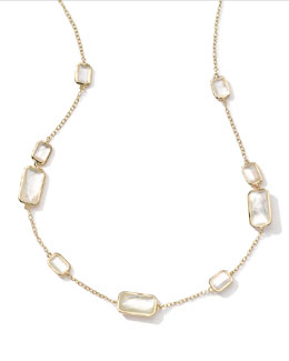 Ippolita 18k Gold Rock Candy Gelato 9 Mother-of-Pearl Station Necklace