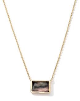 Ippolita 18k Gold Gelato Small Baguette Black Shell Necklace