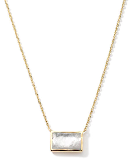 Ippolita 18k Gold Gelato Small Baguette Mother-of-Pearl Necklace