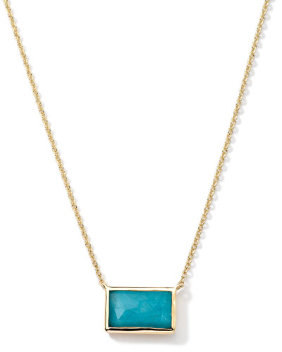 Ippolita 18k Gold Gelato Small Baguette Turquoise Necklace