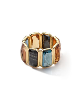 Ippolita 18k Gold Rock Candy Gelato Multi-Stone Band Ring