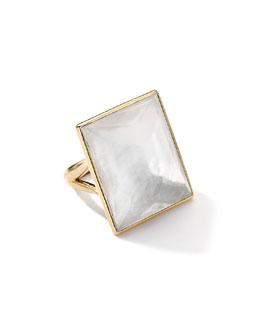 Ippolita 18k Gold Gelato Medium Mother-of-Pearl Baguette Ring