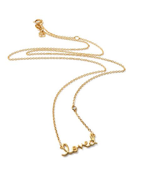 SHY by SE 14k Gold Vermeil Loved Necklace