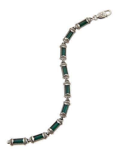 Konstantino Ismene Green Agate Bracelet