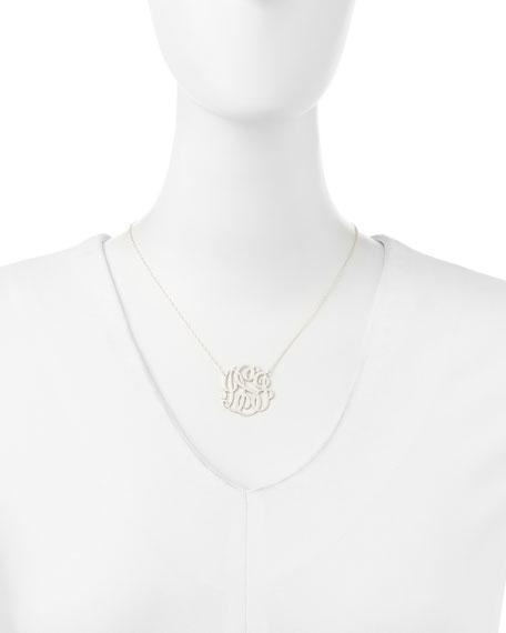 Silver Medium 3-Letter Monogram Necklace