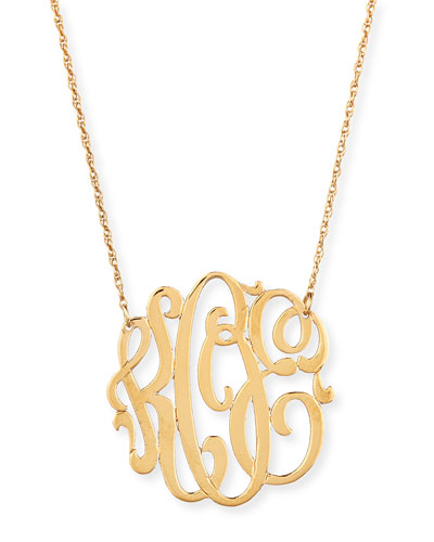 18k Gold Vermeil Medium 3-Letter Monogram Necklace