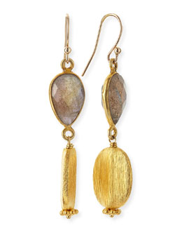 Dina Mackney Labradorite & Gold Vermeil Drop Earrings