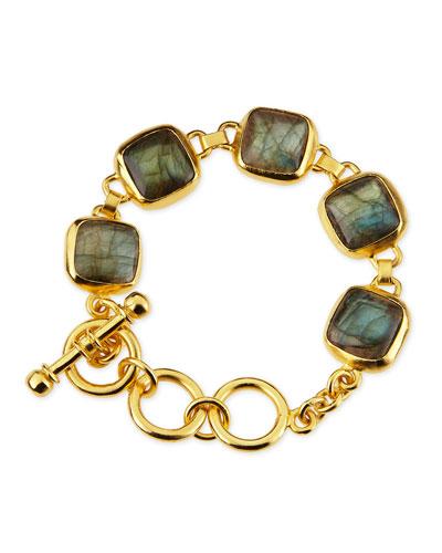 18k Gold Vermeil Labradorite Bracelet