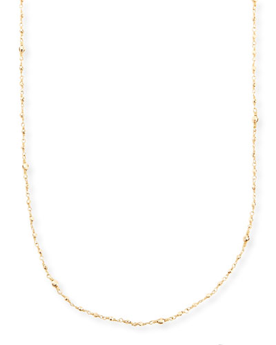 Mizuki 14k Gold-Beaded Station Necklace, 34""