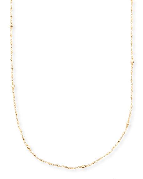 "14k Gold-Beaded Station Necklace, 34"""