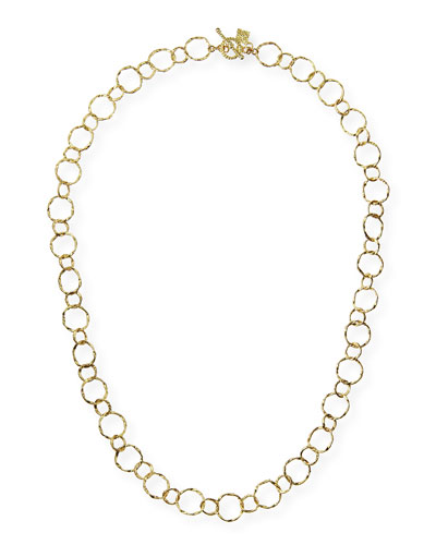 Armenta 18k Yellow Gold Circle Necklace, 18""