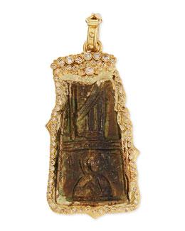 Armenta Antiqued Enhancer with Diamonds