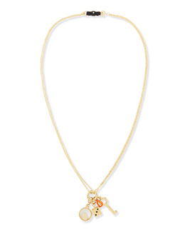 MARC by Marc Jacobs Key to My Heart Cluster Pendant Necklace