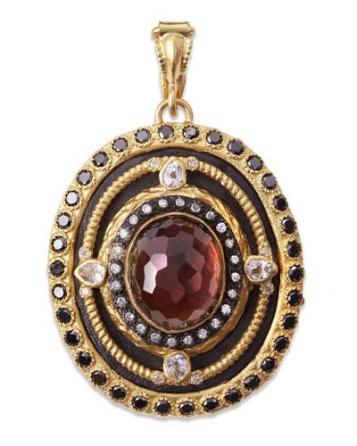 Armenta Diamond, Black Mother-of-Pearl & Quartz Enhancer Pendant