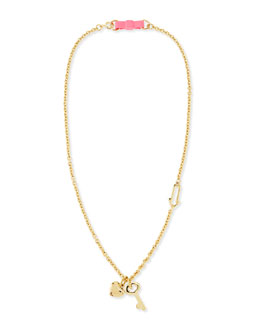 MARC by Marc Jacobs Bow Tie-Lock Pendant Necklace