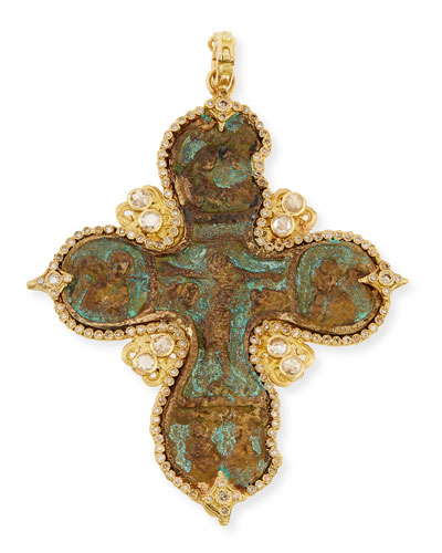 Armenta Sueno Cross Enhancer with Diamonds