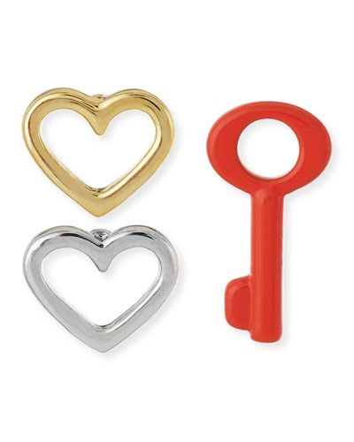 Key To My Heart 3-Piece Earring Set