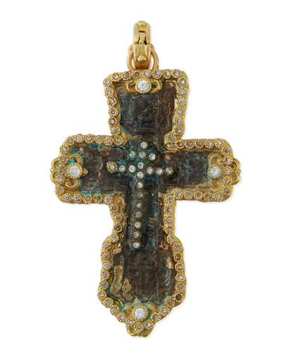 Sueno 18k Gold Fleur Artifact Enhancer with Diamonds