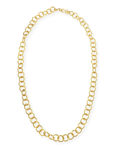 24k Gold-Plated Bronze Classic Link Necklace, 42""
